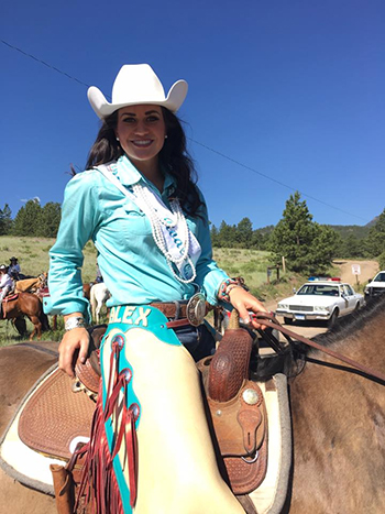 Alex Hyland, the former Miss Rooftop Rodeo, returns to Estes Park this July as Miss Rodeo Colorado. (COURTESY PHOTO)