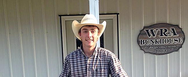 Riley Wakefield, a senior at Northwestern Oklahoma State University from O'Neill, Neb., won the all-around and tie-down roping titles this past weekend at the Northwestern rodeo in Alva. He also placed in a tie for second place in steer wrestling, and the Northwestern men won the team title.