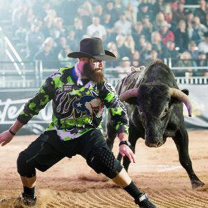 Weston Rutkowski leads the pack heading into this year's Bullfighters Only Las Vegas Championship, which takes place Dec. 6-15 at the Tropicana Casino and Resort in Las Vegas. (PHOTO BY TODD BREWER)