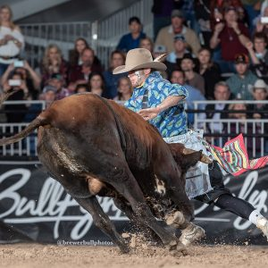 Beau Schueth is the Bullfighters Only reserve world champion. (PHOTO BY TODD BREWER)