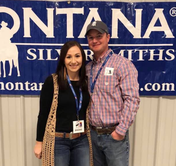 Bailey Akers, left, and Carson Kane are new volunteers on the Guymon Pioneer Days Rodeo committee, and they are part of a busy crew planning this year's rodeo. They're also planning their June wedding. (COURTESY PHOTO)