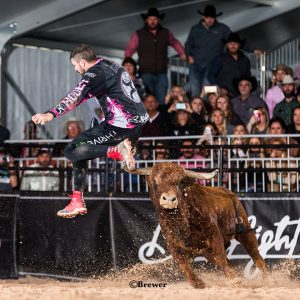 Toby Inman, the defending champion at the BFO-San Antonio, jumps back into the fray when the men of Bullfighters Only compete for the biggest one-day purse in the game on Saturday afternoon. (PHOTO BY TODD BREWER)