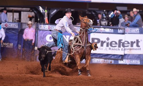 """In just his third year competing in the CINCH Timed Event Championship, Jordan Ketscher will defend the title during this year's """"Ironman of ProRodeo."""" (PHOTO BY JAMES PHIFER)"""