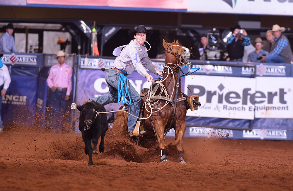 "In just his third year competing in the CINCH Timed Event Championship, Jordan Ketscher will defend the title during this year's ""Ironman of ProRodeo."" (PHOTO BY JAMES PHIFER)"