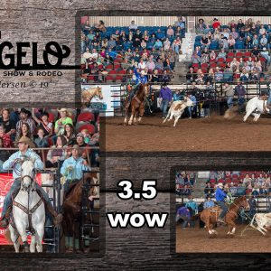Clay Smith and Jake Long set an arena record at the San Angelo Stock Show and Rodeo on Sunday afternoon with a 3.5-second run. (PHOTO ESSAY BY RIC ANDERSEN)