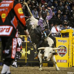 Garrett Smith is again riding at the top of his game and has advanced to the semifinals at RodeoHouston. He is a two-time National Finals Rodeo qualifier and won the 2017 Canadian Professional Rodeo Association's bull riding title. (PHOTO BY COVY MOORE)