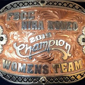 Northwestern Oklahoma State University won the women's title this past weekend at the Fort Scott (Kansas) Community College Rodeo.