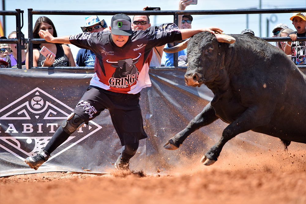 Aaron Mercer picked up his third Bullfighters Only victory this past Sunday by winning the BFO Speedway Series stop in conjunction with the race-day experience at the Coca-Cola 600 at the Charlotte (North Carolina) Motor Speedway. He has three wins and two runner-up finishes in the month of May. (PHOTO COURTESY OF BULLFIGHTERS ONLY)