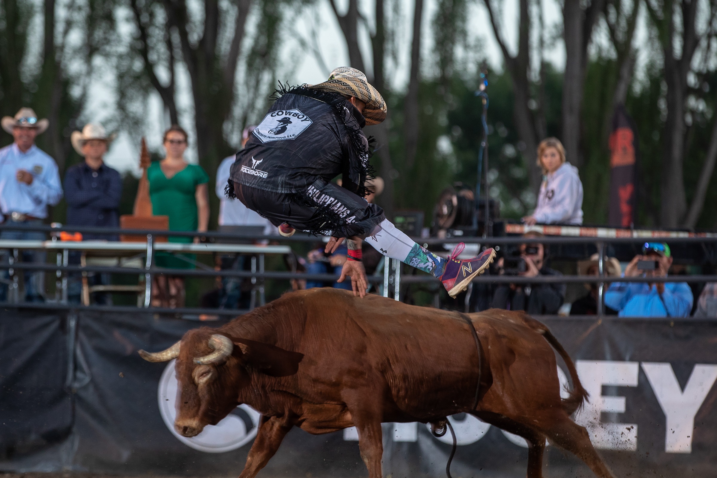 "Andres ""Sasquatch"" Gonzalez leaped into the No. 5 position in the Bullfighters Only Pendleton Whisky World Standings after winning the Sequoia Cup in Fortuna, California. (PHOTO BY TODD BREWER)"