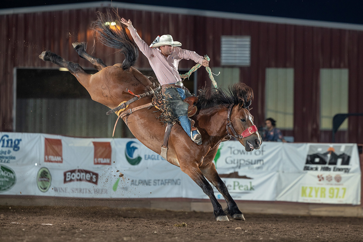 Great animals have been a staple for rodeos that trust Pete Carr Pro Rodeo, but they also get a talented crew and great production with the Carr team. (PHOTO BY ROBBY FREEMAN)