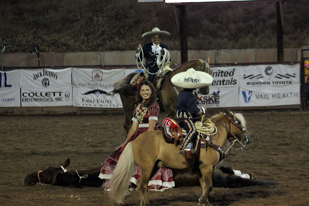 The Garcilazos – Tomas, back, Justine and their 5-year-old son, Louis – were a big hit at the Eagle County Fair and Rodeo.