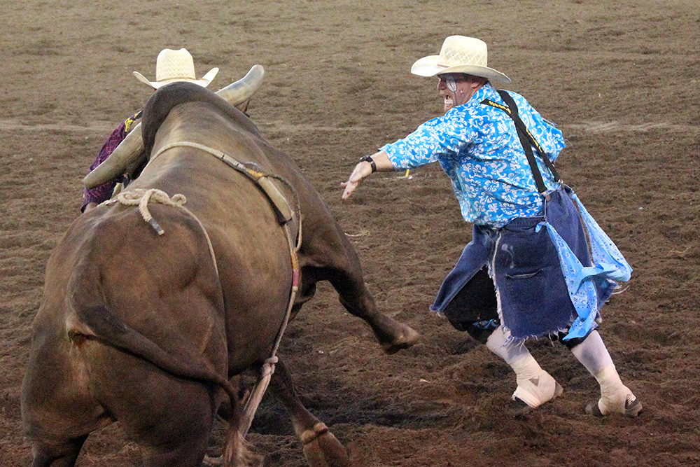 Wacey Munsell will work with Wayne Ratley as the two bullfighters hired to protect the cowboys during bull riding at the Chisholm Trail Ram Prairie Circuit Finals Rodeo.