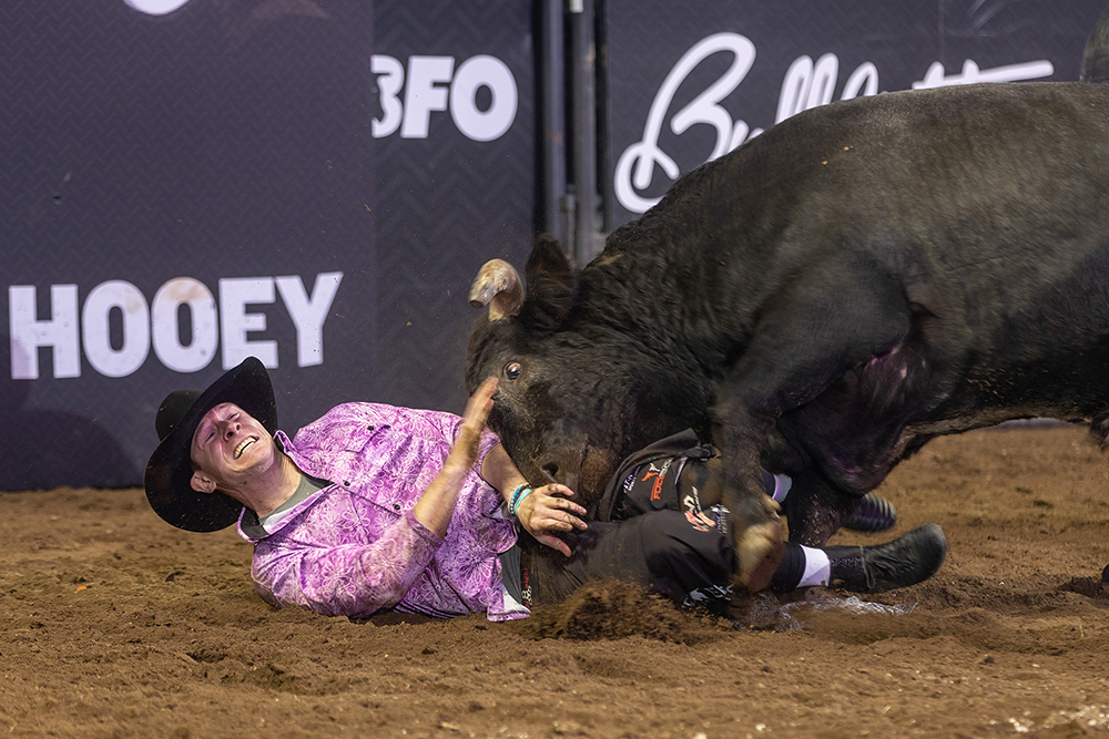 Despite recent struggles on the Bullfighters Only tour, Kris Furr is focused on the tasks at hand as he prepares for the Speedway Series Finale, set for 11 a.m. Sunday at Texas Motor Speedway in Fort Worth. (PHOTO BY TODD BREWER)