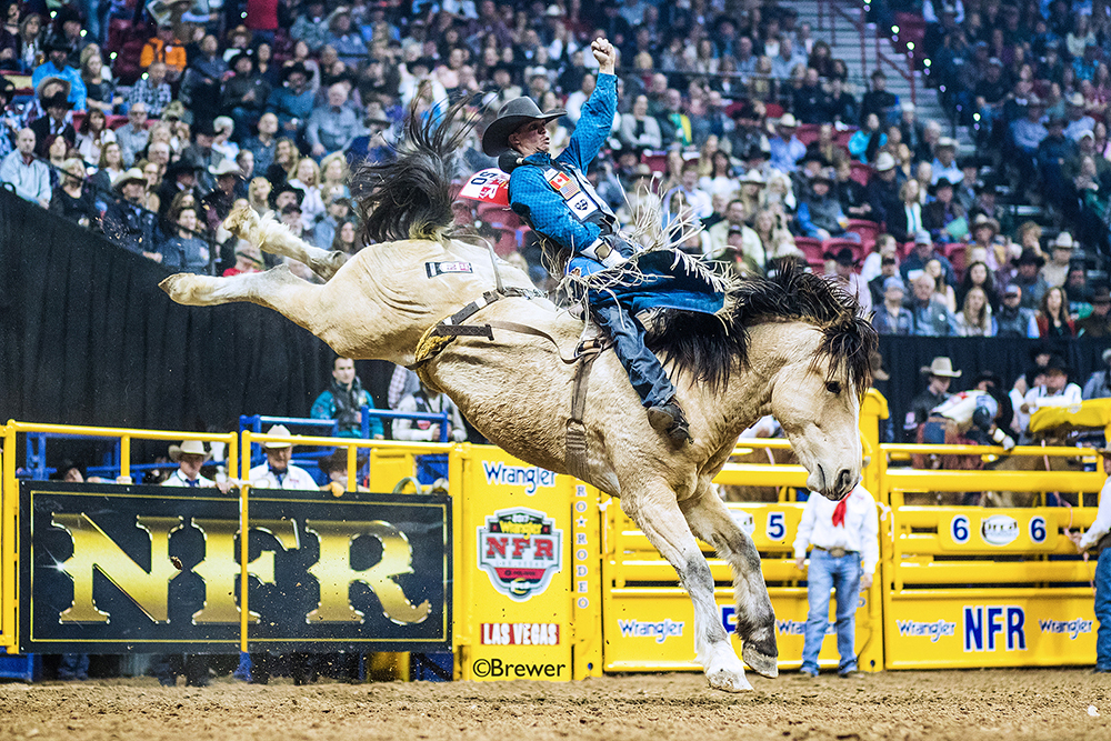 Orin Larsen will ride at the National Finals Rodeo for the fifth time after earning more than $173,000 this year in ProRodeo. He's coming off his first Canadian bareback riding title and is loaded with confidence. (PHOTO BY TODD BREWER)