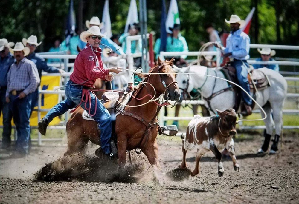 Tuf Cooper has qualified for the National Finals 14 times in his career. He is in the race to win both the tie-down roping and all-around world titles this year. (COURTESY PHOTO)