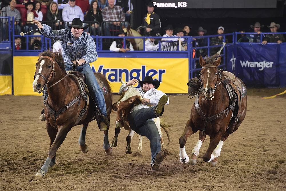 Tanner Brunner is having the best season of his young career and heads to his third straight National Finals Rodeo sitting in sixth place in the world standings. (PRCA PRORODEO PHOTO BY JAMES PHIFER)
