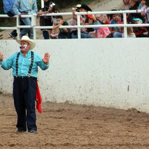 Justin Rumford, the reigning eight-time PRCA Clown of the Year, returns to entertain the crowds at the Guymon Pioneer Days Rodeo.