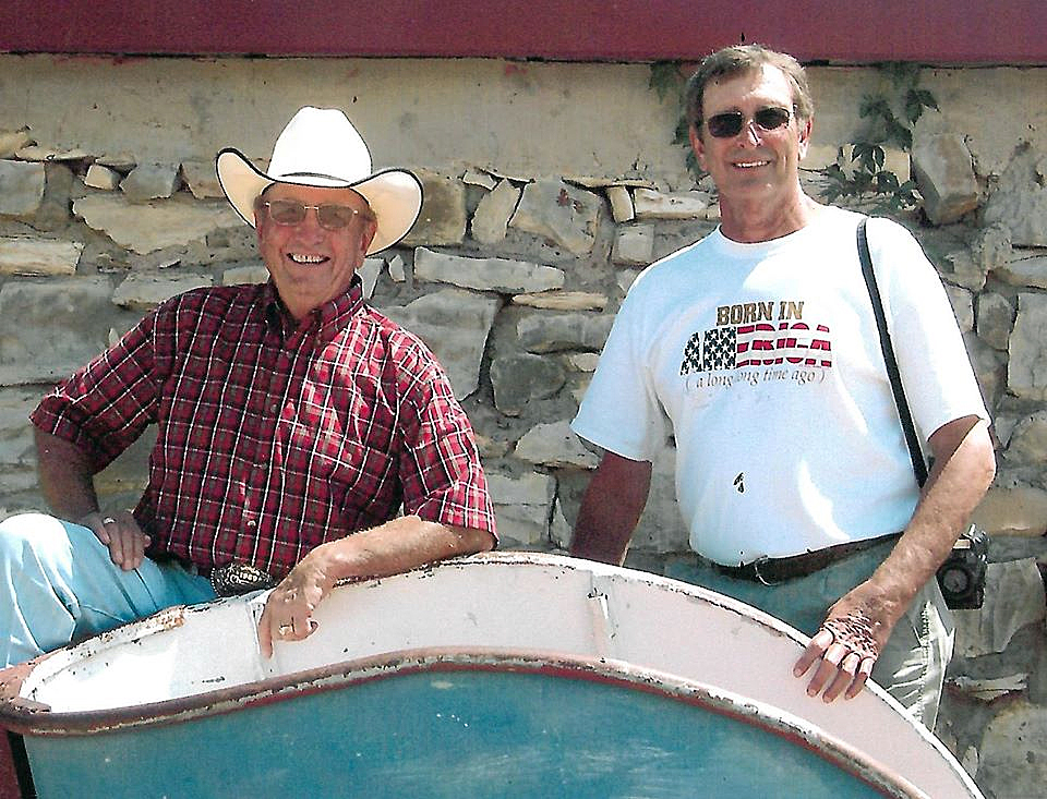 Hadley Barrett and Lecile Harris were not only good friends, but they were ProRodeo Hall of Fame inductees and were amazing when teamed together. (PHOTO FROM THE LECILE HARRIS FACEBOOK PAGE)