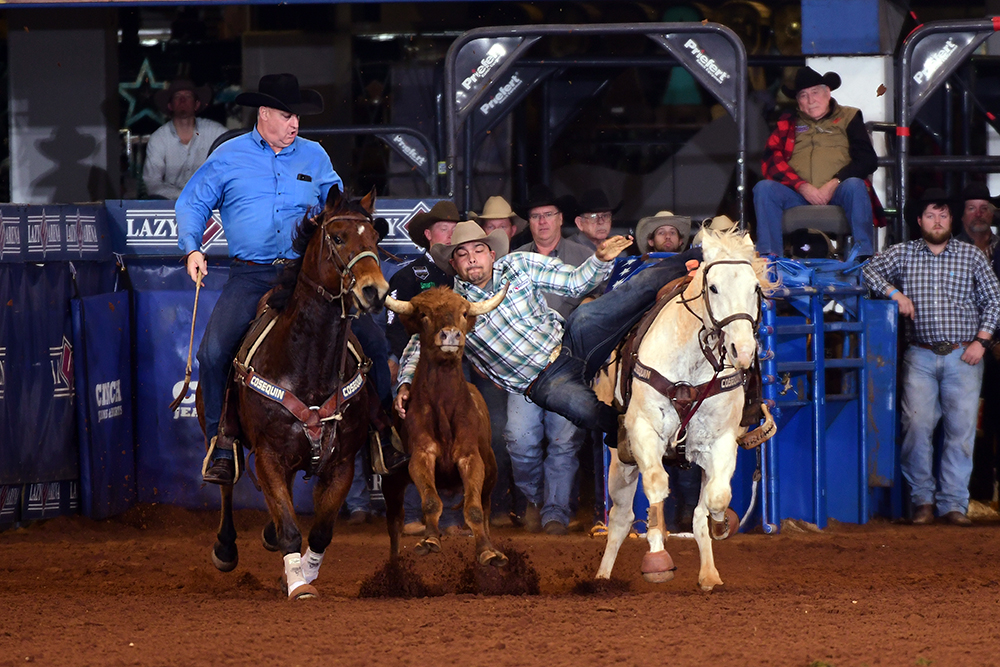 Erich Rogers is feeling healthy and excited about competing at the 2020 CINCH Timed Event Championship, which begins Friday at the Lazy E Arena. (PHOTO BY JAMES PHIFER)