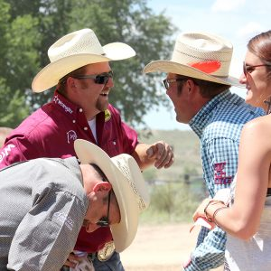 They say it's not really a job if you thoroughly enjoy what you do, and that's the case with me and TwisTed Rodeo. and Rodeo Media Relations. This was a comedic situation between then-partners Coleman Proctor and Jake Long that my then-intern Trisha Price and I got to witness in Guymon, Oklahoma, in 2015. (PHOTO BY LYNETTE HARBIN)