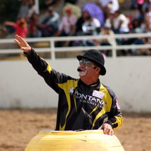 Funnyman Robbie Hodges will return to help entertain the crowds at the Guymon Pioneer Days Rodeo.