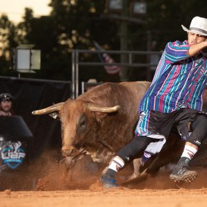 Sage Seay will bring his No. 1-spot in the Ultimate Bullfighters standings to Grand Island during the Friday and Saturday bullfights in conjunction with the Nebraska State Fair. (PHOTO BY CLICK THOMPSON)